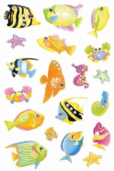 HERMA 6921 10x Sticker MAGIC Fische Jewel