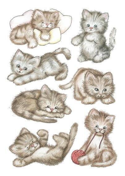 HERMA 3477 10x Sticker DECOR Drolliges Kätzchen