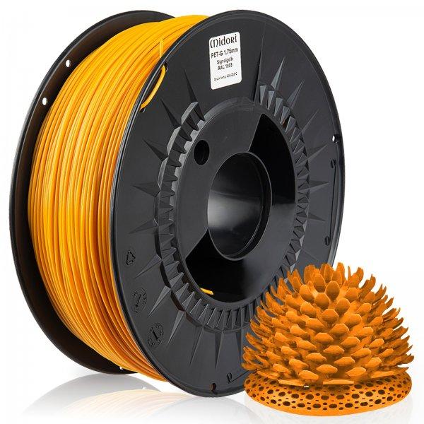 Midori® 3D PETG Filament 1,75mm 1kg Spule Signalgelb RAL1003