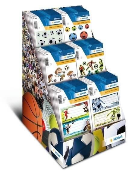 HERMA 3399 Display Sticker DECOR/MAGIC Fußball 80 Pack.