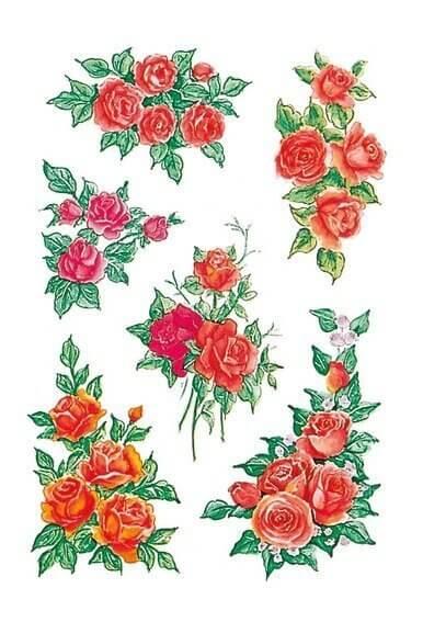 HERMA 3809 10x Sticker DECOR Rosenbouquets