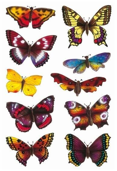 HERMA 3349 10x Sticker DECOR Schmetterlinge beglimmert