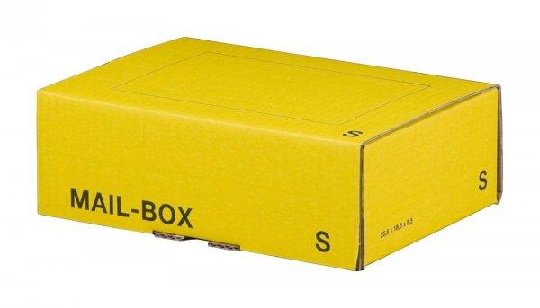 Versandkarton 249 x 175 x 79 mm mit Steckverschluss in Gelb