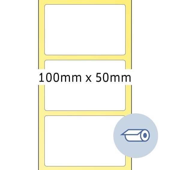 HERMA 4090 Rollenetiketten Thermotransfer 100x50 mm weiß Papier seidenmatt 2000 Stück
