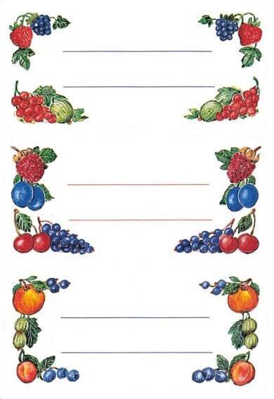 HERMA 3784 10x Küchenetiketten Beerenarrangements Einmachgläser