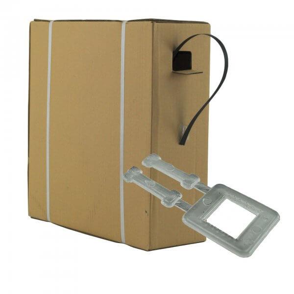 Umreifungsset 12 mm PP Spenderkarton Kunststoffklemmen