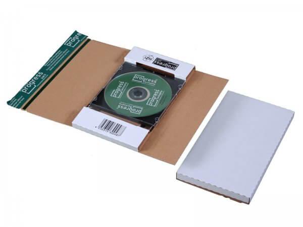 CD-Jewel-Mailer 225 x 125 x 12 mm ohne Fenster