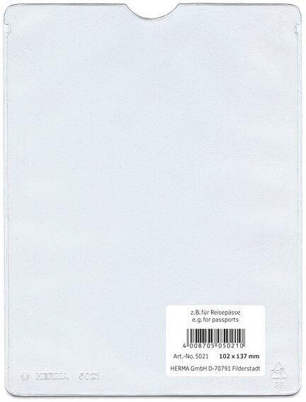HERMA 5026 25x Ausweishüllen 220x310 mm für Dokumente DIN A4