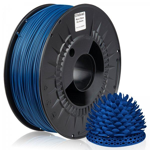 Midori® 3D PLA Filament 1,75mm 1kg Spule Blau Metallic