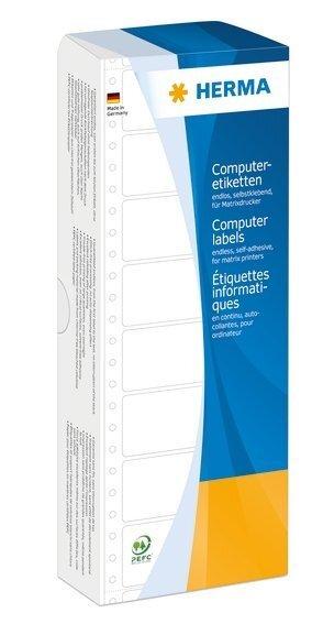 HERMA 8122 Computeretiketten 1016x484 mm 1-bahnig rot Papier matt 2000 Stück