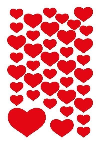 HERMA 3841 10x Sticker DECOR Kleine Herzen rot