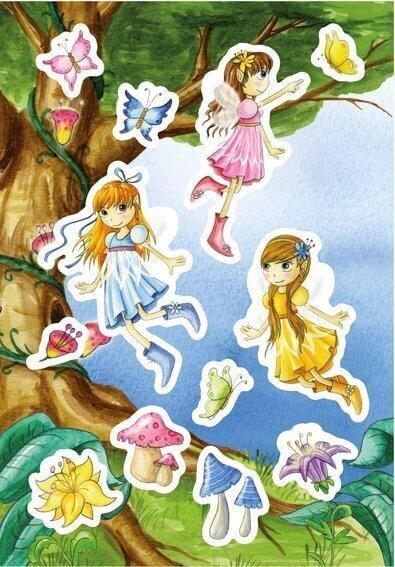 HERMA 3092 10x Sticker MAGIC Zauberfeen Prismaticfolie