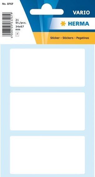 HERMA 3757 Vielzwecketiketten 34x67 mm weiß Papier matt 210 Stück