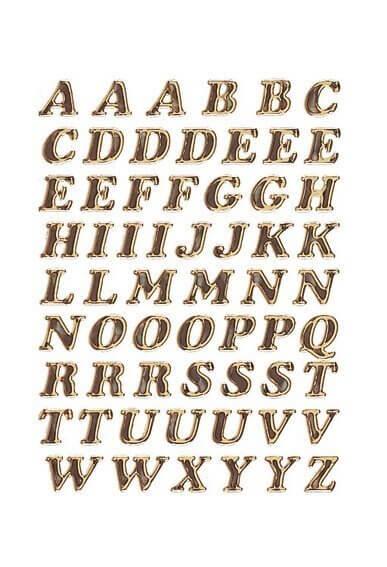 HERMA 4192 Buchstaben 8 mm A-Z Prismaticfolie gold glitzernd 10 Bl.