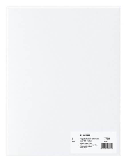 HERMA 7769 Negativhüllen transparent 4 Filmstreifen klar 100 Stück