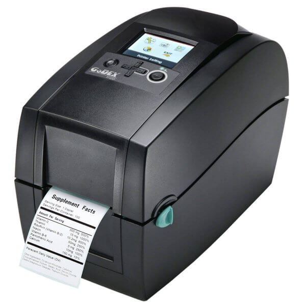 GoDEX Desktopdrucker RT200i 203 dpi USB LAN seriell Display