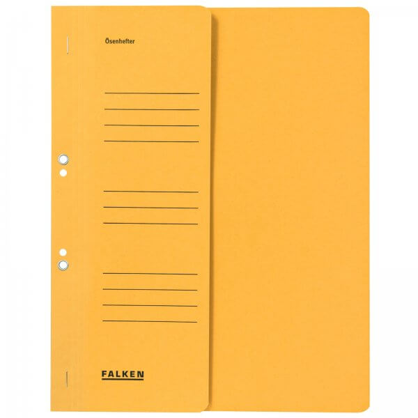 Ösenhefter DIN A4 1/2 Vorderdeckel kaufmännische Heftung Gelb