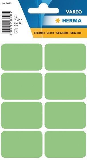 HERMA 3695 Vielzwecketiketten 25x40 mm grün Papier matt 400 Stück