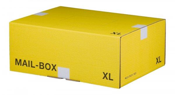 Versandkarton 460 x 333 x 174 mm mit Steckverschluss in Gelb