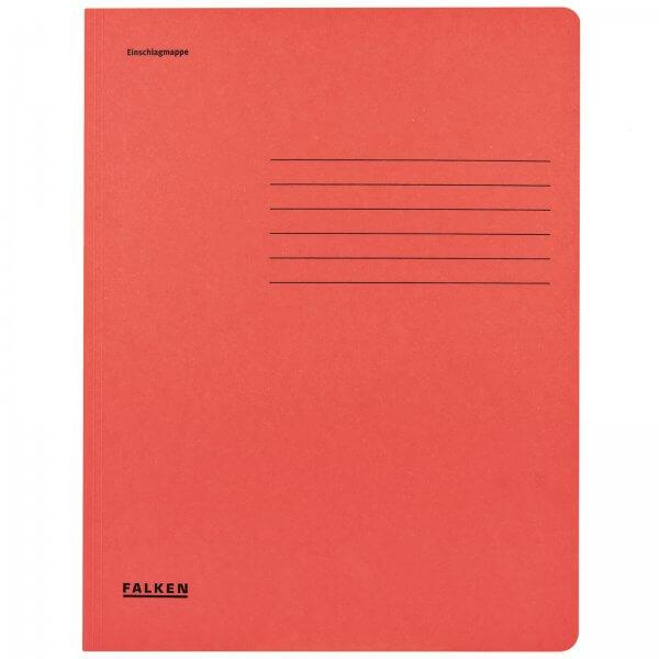 Einschlagmappe DIN A4 aus Manilakarton Rot