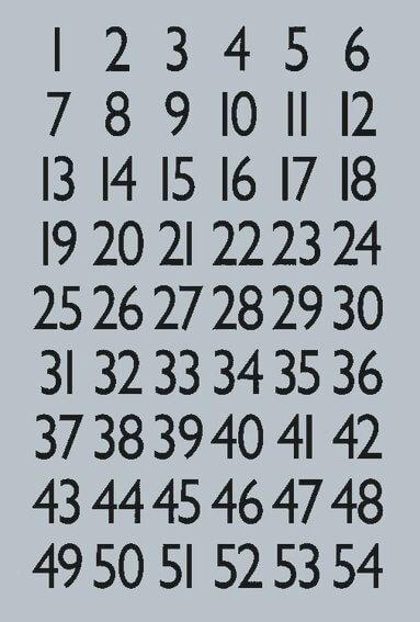 HERMA 4134 Zahlen 13x12 mm 1-100 Silberfolie schwarz 40 Bl.