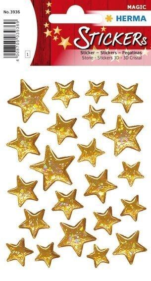 HERMA 3936 10x Sticker MAGIC Sterne 5-zackig Stone