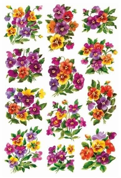 HERMA 3348 10x Sticker DECOR Veilchengestecke beglimmert
