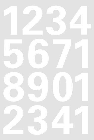 HERMA 4170 Zahlen 25 mm 0-9 wetterfest Folie weiß 10 Bl.