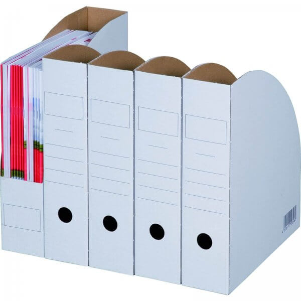 Archiv-Stehsammler mit Beschriftungsfeld 75 mm Rückenbreite DIN A4 Braun