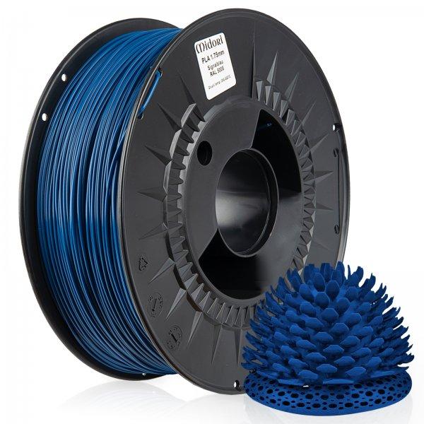 Midori® 3D PLA Filament 1,75mm 1kg Spule Signalblau RAL5005