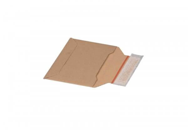 Kartonversandtasche 177 x 120 x 48 mm Kompaktbrief mit Aufreißfaden & Selbstklebeverschluss