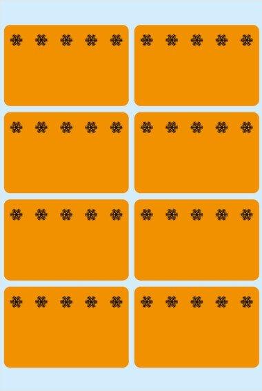 HERMA 3774 Tiefkühletiketten orange 26x40 mm Eiskristalle 480 Stück