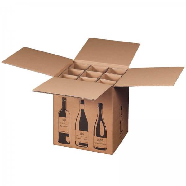 Flaschenkarton für 9 Flaschen mit PTZ-Zulassung (DHL/UPS), 316 x 305 x 368 mm