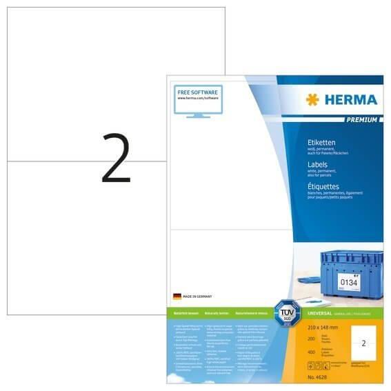 HERMA 4628 Etiketten Premium A4 210x148 mm weiß Papier matt 400 Stück