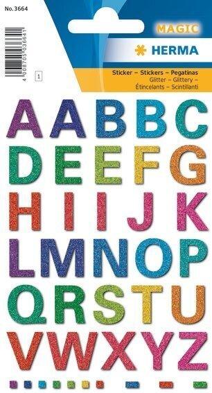 HERMA 3664 10x Sticker MAGIC Buchstaben glittery