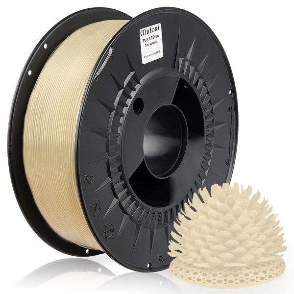 Midori® 3D PLA Filament 1,75mm 1kg Spule Transparent