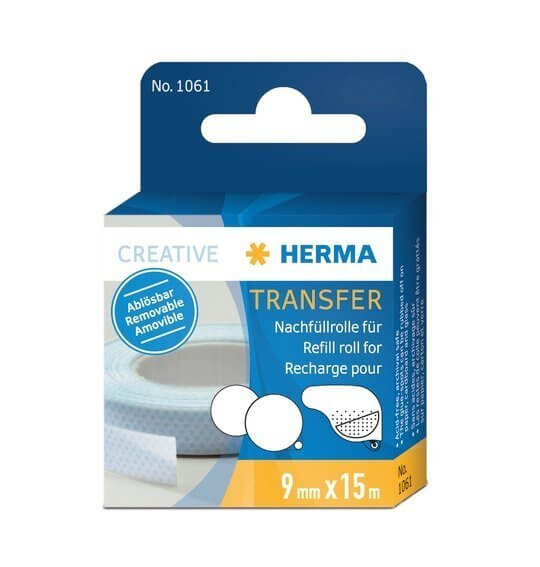 HERMA 1061 Transfer Nachfüllrolle 15 m ablösbar 10 Stück