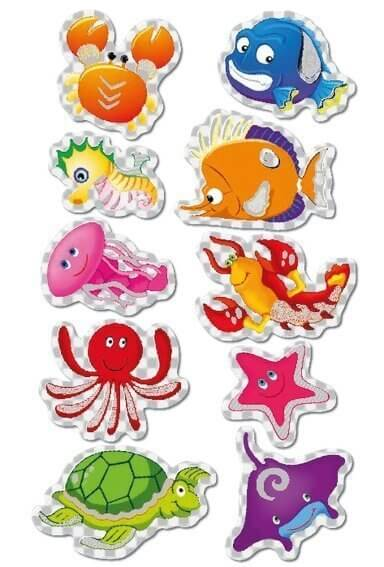 HERMA 3669 10x Sticker MAGIC Sea life Prismaticfolie
