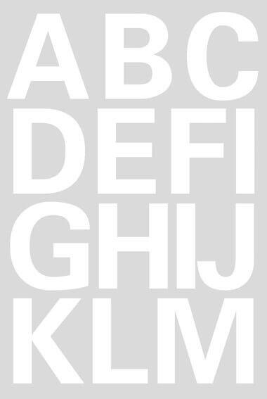 HERMA 4169 Buchstaben 25 mm A-Z wetterfest Folie weiß 20 Bl.