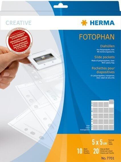 HERMA 7701 Diahüllen für Kleinbild-Dias Folie klar 10 Hüllen