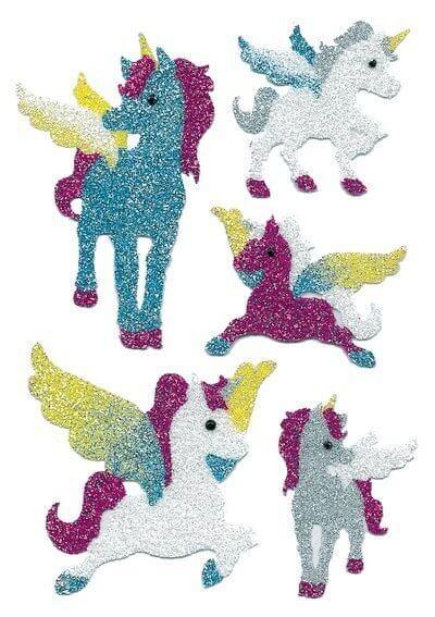 HERMA 6667 10x Sticker MAGIC Einhörner Diamond glittery