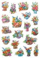 HERMA 3584 10x Sticker DECOR Blumen in Körbchen