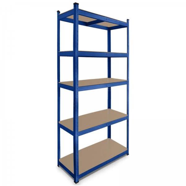 Lagerregal 180 x 90 x 40 cm Steckregal Traglast 875 kg pulverbeschichtet blau