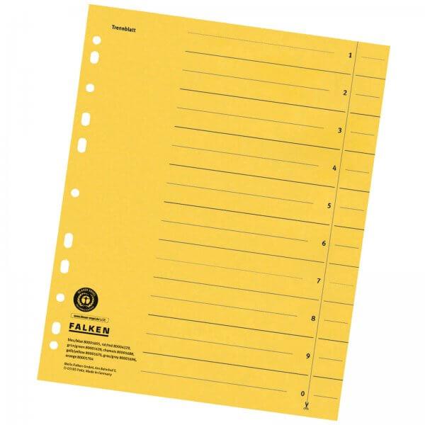 Trennblätter DIN A4 aus Manilakarton 230 g/m² Gelb