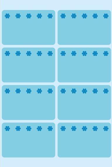 HERMA 3773 Tiefkühletiketten blau 26x40 mm Eiskristalle 480 Stück