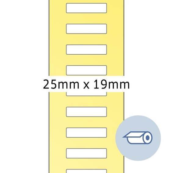 HERMA 4047 Rollenetiketten Thermotransfer 25x19 mm weiß Papier seidenmatt 5000 Stück
