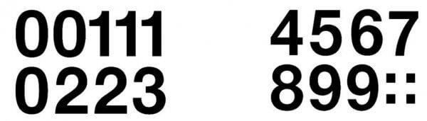 HERMA 4189 Zahlen 33 mm 0-9 wetterfest Folie schwarz 20 Bl.