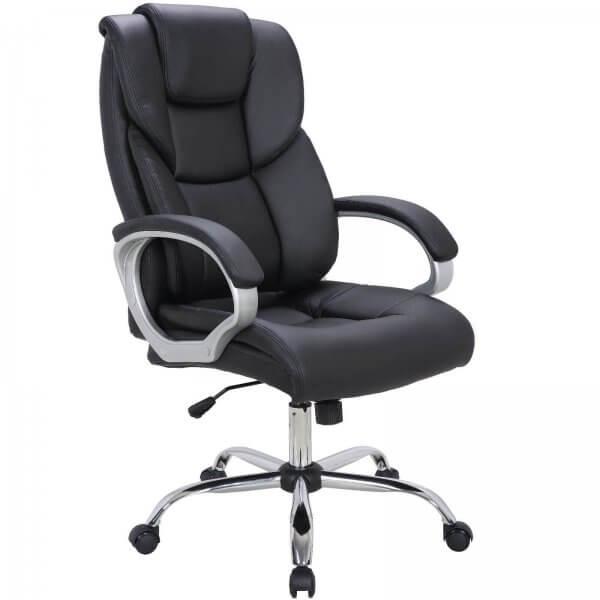 Midori Komfort Büro Chefsessel Drehstuhl Bürostuhl Sessel schwarz