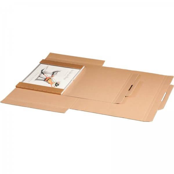 Kartonversandtasche für Kalender 420 x 310 x 10 mm DIN A3 mit Aufreißfaden & Steckverschluss