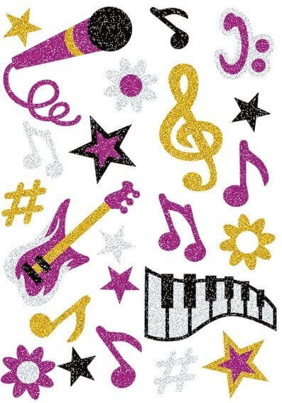 HERMA 3276 10x Sticker MAGIC Musik glittery